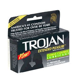 Trojan Extended Pleasure Condoms - Quantity - Box of 72 by Trojan