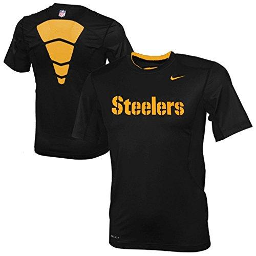 Pittsburgh Steelers Black Nike 2012 Sideline Dri-Fit NPC Hypercool Speed Top T-Shirt XL