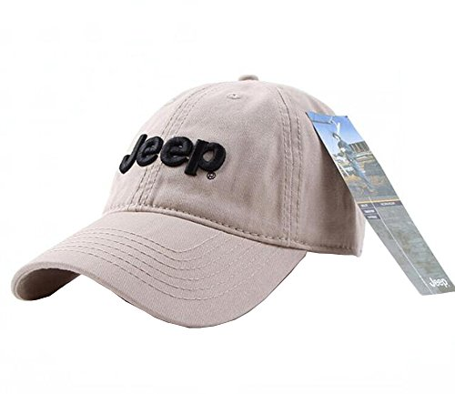 Jeep Unisex Adjustable Horizon Classic Cap (Tan, Free Size) -