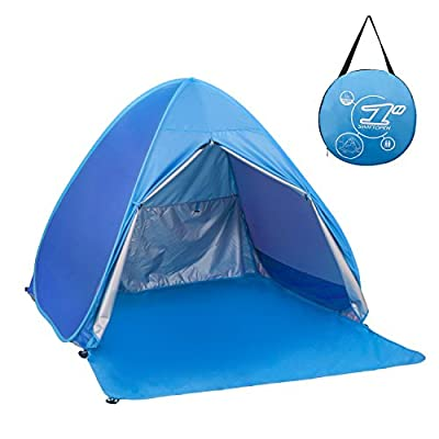 Elover Automatic Pop Up Beach Tent Outdoor Sun Shelter Shade Cabana for 1-2 Person