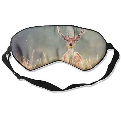 Silk Sleeping Mask Eye Animal Deer Lightweight Soft