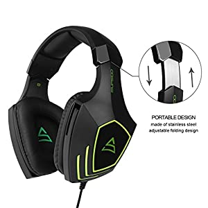 [2017 SUPSOO Multi-Platform Xbox one PS4 Gaming Headset ] SUPSOO G820 Bass Stereo Gaming Headsets with Noise Isolation Microphone For New Xbox one PS4 PC Laptop Mac iPad iPod (Black&Green)