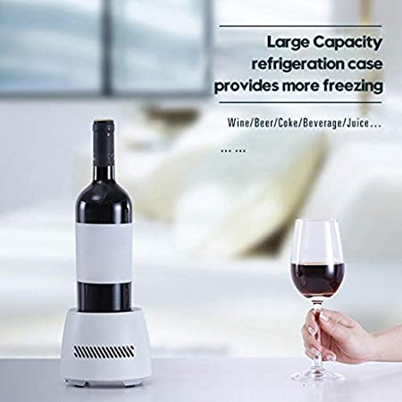 R-WEICHONG - Juego de copas de vino para bebidas y enfriador de vasos con vaso de aluminio para escritorio de oficina