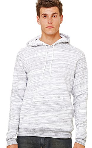 Bella mens Unisex Poly-Cotton Fleece Pullover Hoodie(3719)-LT GREY MARBLE-S (Pullover Hooded Bella)