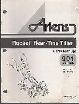 1998 ARIENS 901 ROCKET REAR TINE TILLER PARTS MANUAL P/N