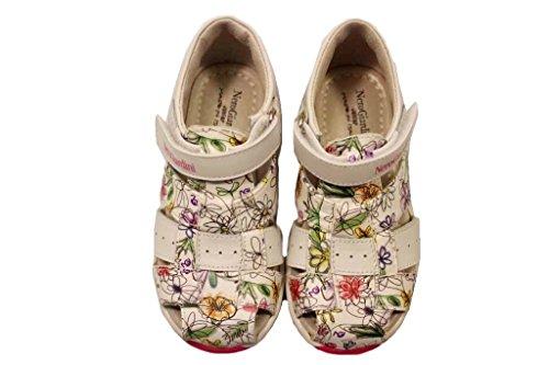 Blanc Fille Giardini Larme Chaussures J Bianco Sandales avec Noir P820260F Fermeture YTUtcqq