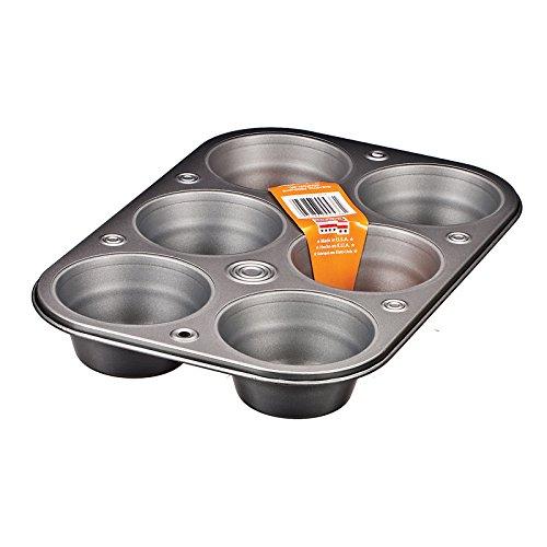 Baker Eze Texas Muffin Pan, 6 Cup - 1 Pkg (Bakers Eze)