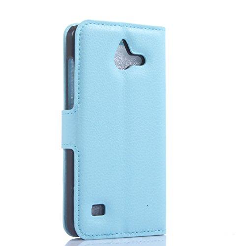 Manyip Funda Huawei Ascend Y550,Caja del teléfono del cuero,Protector de Pantalla de Slim Case Estilo Billetera con Ranuras para Tarjetas, Soporte Plegable, Cierre Magnético(JFC5-1) D