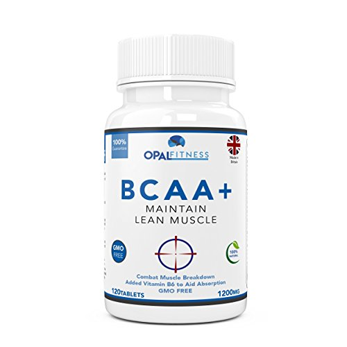 BCAA Tablets | 1200mg Branched Chain Amino Acids | BCAA+ With Added Vitamin...