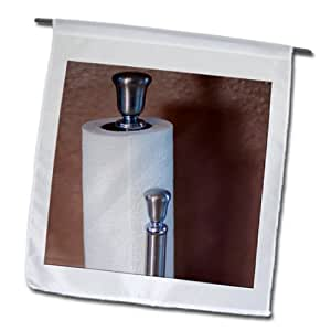 Jos Fauxtographee Indoor - A metal holder with paper towels on it - 18 x 27 inch Garden Flag (fl_79686_2)