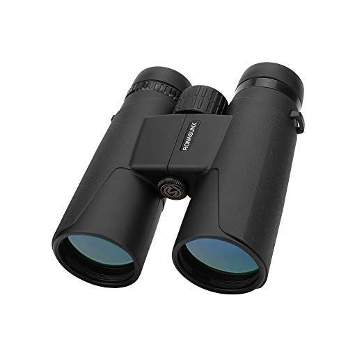 Compact Binoculars for Adults, 12X42 Roof Prism Waterproof Binoculars with Low Light Night Vision, Lightweight HD High Power Binoculars for Bird Watching Hunting Travel Concerts - BAK4 Prism FMC Lens (Best Rated Compact Binoculars)