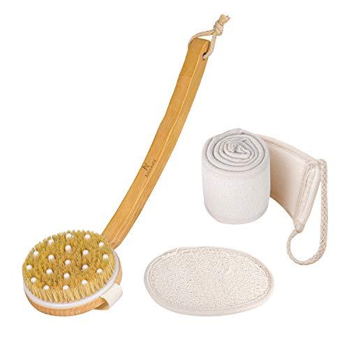 Bath Brush,Back Body Shower Brush Body Scrubber Exfoliating Brush Back Scrubber for Shower Men Women with Long Handle