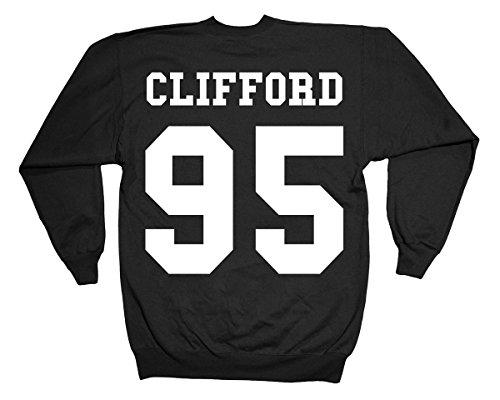 Minamo Michael Clifford Double Print Sweatshirt Medium (42-44 inches) Black