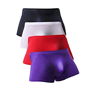 WINDAY Men Briefs Breathable Ice Silk Boxer Bikinis and Briefs N05