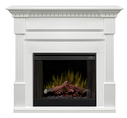 Dimplex Christina (Buildrite Series) - Classic Fireplace Mantel with Fluted Columns, Carved Dentil molding in a White Finish. ()