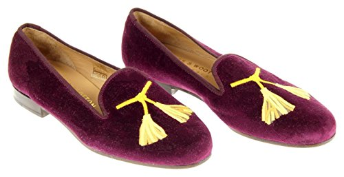 Stubbs & Wootton For J.Crew Embroidered Tassel Slipper Shoe Loafer Sz 7 F5747 by J.Crew