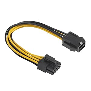Akasa AK-CB051 - Cable alimentación PCIe (6-pin PCIe/ 8-pin ATX, 12 V, 0.15 m)