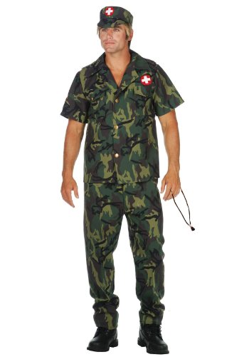 RG Costumes Army Doctor Costume, Plus (Army Doctor Adult Costumes)