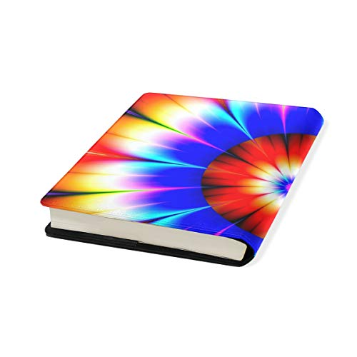 Abstract Art Stretchable Leather Book Covers Standard Size for Student Hardcover Textbooks Fits up to 9x11-Inch for School Girls Boys Gift by FeiHuang
