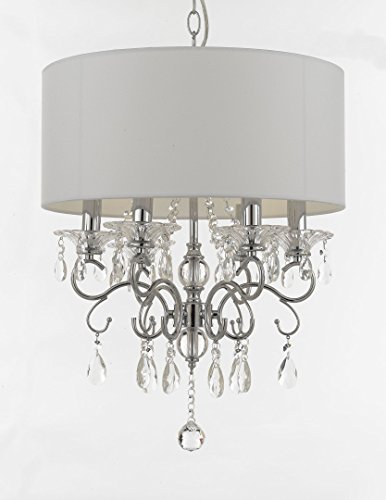 Silver Mist Crystal Drum Shade Chandelier Lighting