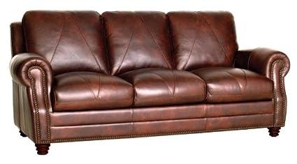 Merveilleux Luke Leather Solomon Sofa