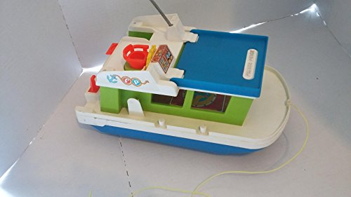 (Vintage 1972 Fisher Price Little People House Boat #985)