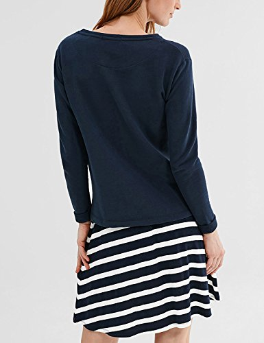 Esprit Women's Women's Navy Printed Sweatshirt Cotton And Polyester Navy