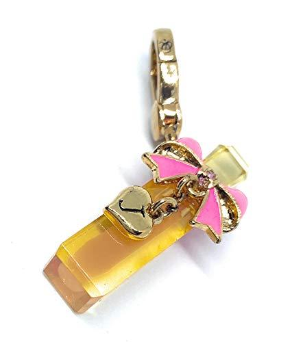 Juicy Couture - Pink Bow on Perfume Bottle Charm - Viva La Fleur Bottle