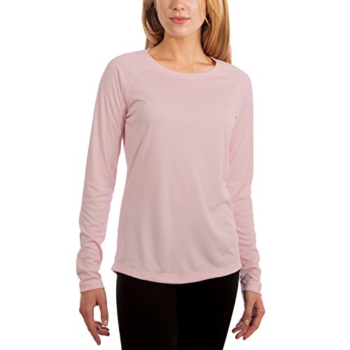 - Vapor Apparel Women's UPF 50+ UV Sun Protection Performance Long Sleeve T-Shirt Medium Pink Blossom