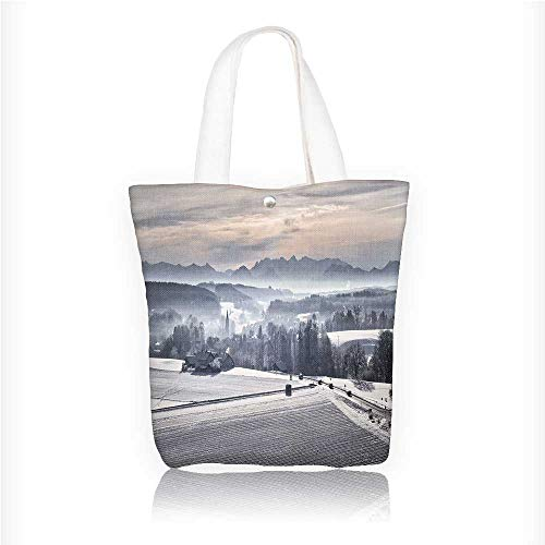 Canvas Zipper Tote Bag Printed In the early