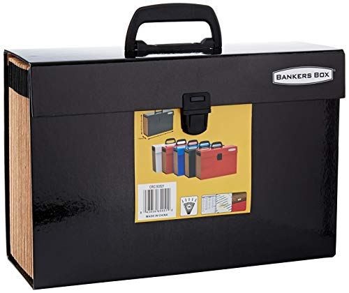 Fellowes Bankers Box - Clasificador de fuelle con 19 secciones y cierre de seguridad, color negro