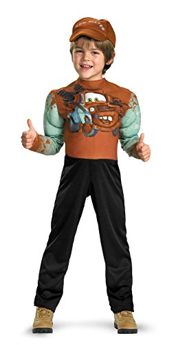 Disguise Limited Boys' Cars 2 Tow Mater Muscle Costume Multicoloured 3T to 4T (Tow Mater Halloween Costume)