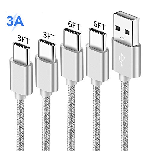 Charger Cord for Samsung S10 S10E S8 S9 10 9 Edge Plus,A20 A10E A50,Galaxy Tab S3 S4,Nokia 7.1 6.1 7,Oneplus 6T,Asus Zenfone V Live 5 5Z,USB Type C Charging Cable,Fast Charge Power Wire 3-3-6-6 FT