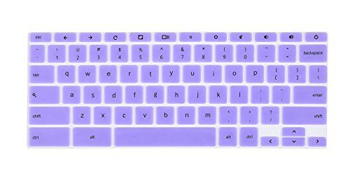CaseBuy ASUS Chromebook Keyboard Protector Silicone Skin for 13.3 ASUS C300 C300MA C300SA C301SA-DS02 C301SA-DB04 ChromeBook (Purple)