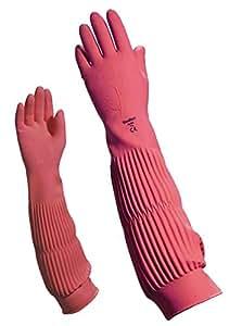 Delta plus guantes sinteticos - Guante limpieza latex rosa menaje 60cm talla 7
