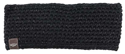 Price comparison product image UGG Womens Crochet Headband With Lurex & Sequins In Black