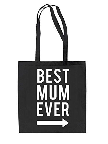 Best Mum Ever Jutebeutel Black
