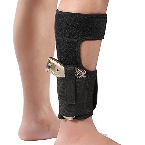wohuu Ankle Holster with Magazine Pouch Concealed Carry Gun Holsters for Glock 43 27 19 26, Ruger LCP, S&W Bodyguard 380, M&P Shield, Sig Sauer, p238, Revolver, 38 Special, 9mm J Frame Pistol