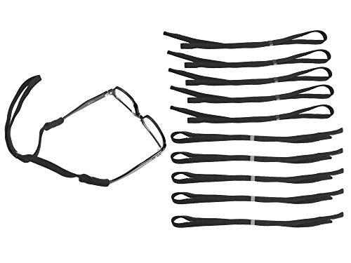 - Walkingpround 10pcs/lot Black Glasses Holder Straps Sports Safety Sunglasses Holder Eyeglasses Neck Cord String