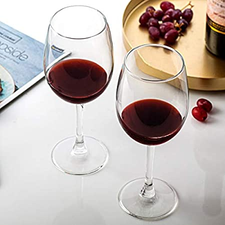 CREST [Juego de 8, 473ml/16 oz Copas de Vino Tinto, Vaso de Cristal, para Bodas, restaurantes y Fiestas