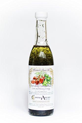 Cucina Aurora, Oil Olive Tomato Basil, 12 Ounce