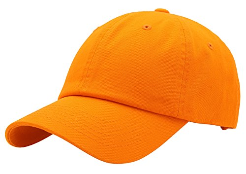 BRAND NEW 2016 Classic Plain Baseball Cap Unisex Cotton Hat For Men & Women Adjustable & Unstructured For Max Comfort Low Profile Polo Style  Unique & Timeless Clothing Accessories By Top Level, Orange, One Size -
