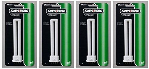 Rayovac Fluorescent U Tube Bulb Carded, White, 9 watt