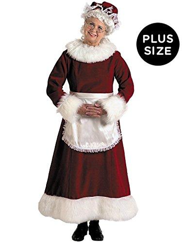 Halco - Mrs. Claus Dress Adult Plus Costume