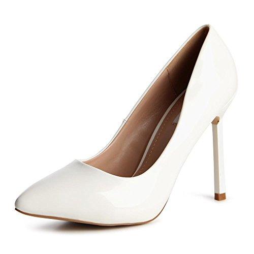 topschuhe24 Bianco Donna Col Scarpe bianco Tacco rqFgrnIwR