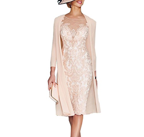 Buy light pink mother of the bride dresses - 4