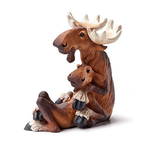 - DEMDACO Big Sky Carvers Moose Mates Figurine