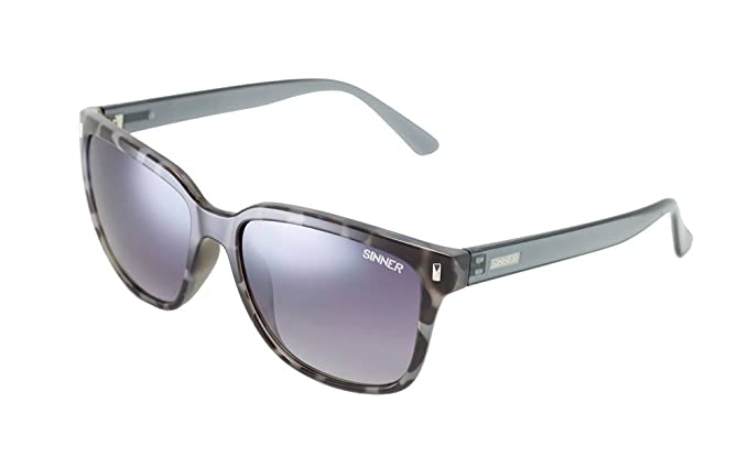 f57df49d817 Sinner Adult Dona Polycarbonate Sintec Polarised Sunglasses - Black Grey  Sunglasses Tortoise SISU 717 10 P10  Amazon.co.uk  Sports   Outdoors