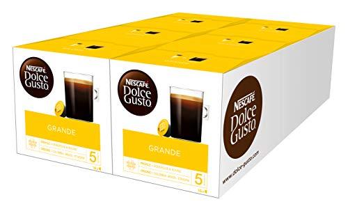 NESCAFÉ Dolce Gusto Grande Kaffee, 96 Kaffeekapseln, 100 Prozent Arabica Bohnen, Feine Crema und kräftiges Aroma, Aromaversiegelte Kapseln, 6er Pack (6 x 16 Kapseln)