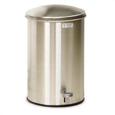 Rubbermaid Commercial FGST35SSGL The Defenders Steel Step Trash Can with Galvanized Liner, 3.5-Gallon, Stainless (Galvanized Liner Bin)